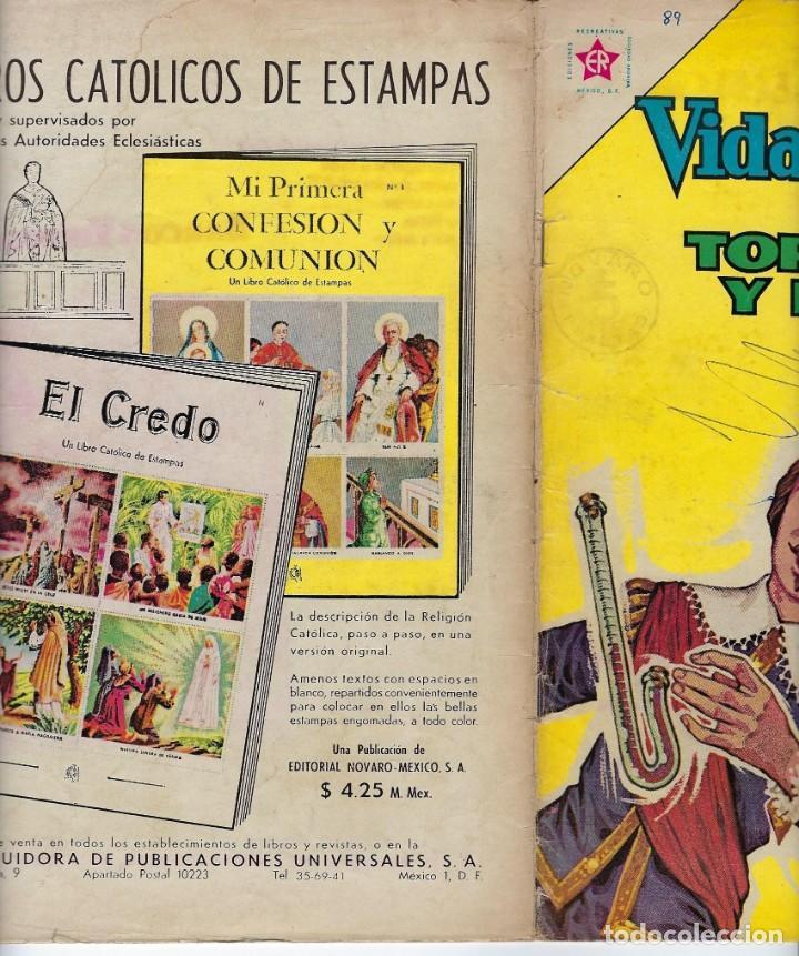 Tebeos: VIDAS ILUSTRES: TORRICELLI Y LA VIDA - AÑO VIII, Nº 89 - JUNIO 1º DE 1963 *** NOVARO MÉXICO *** - Foto 3 - 210087091