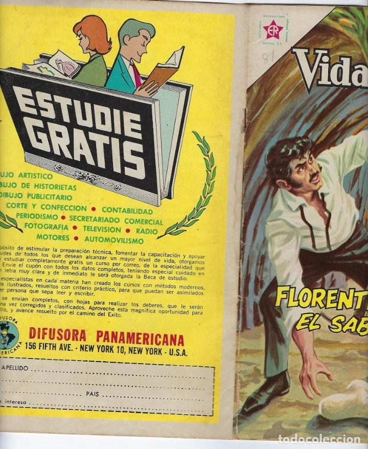 Tebeos: VIDAS ILUSTRES: FLORENTINO AMEGHINO - AÑO VII, Nº 81 - OCTUBRE 1º DE 1962 ***NOVARO MÉXICO *** - Foto 3 - 210087800