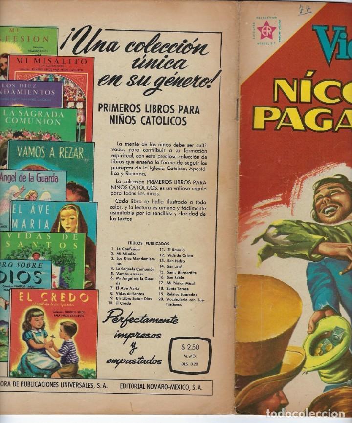 Tebeos: VIDAS ILUSTRES: NICOLO PAGANINI - AÑO VII, Nº 77 - JUNIO 1º DE 1962 *** NOVARO MÉXICO *** - Foto 3 - 210088113