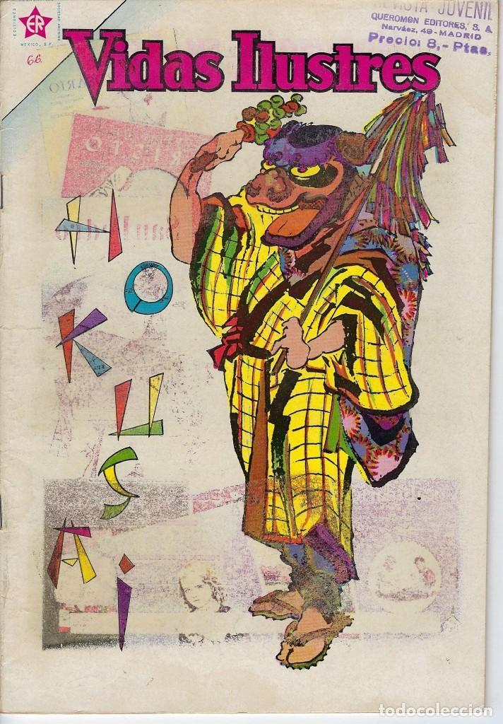 VIDAS ILUSTRES: HOKUSAI - AÑO VI, Nº 66 - JULIO 1º DE 1961 *** NOVARO MÉXICO *** (Tebeos y Comics - Novaro - Vidas ilustres)