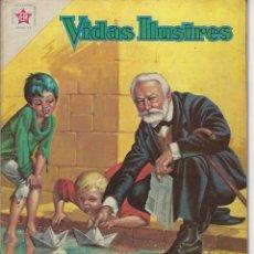 Tebeos: VIDAS ILUSTRES: VÍCTOR HUGO, EL ETERNO... - AÑO VI, Nº 64 - MAYO 1º DE 1961 *** NOVARO MÉXICO ***. Lote 210093193