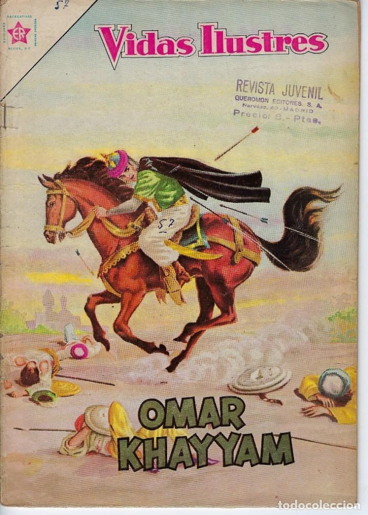 VIDAS ILUSTRES: OMAR KHAYYAM - AÑO V, Nº 57 - OCTUBRE 1º DE 1960 *** NOVARO MÉXICO *** (Tebeos y Comics - Novaro - Vidas ilustres)