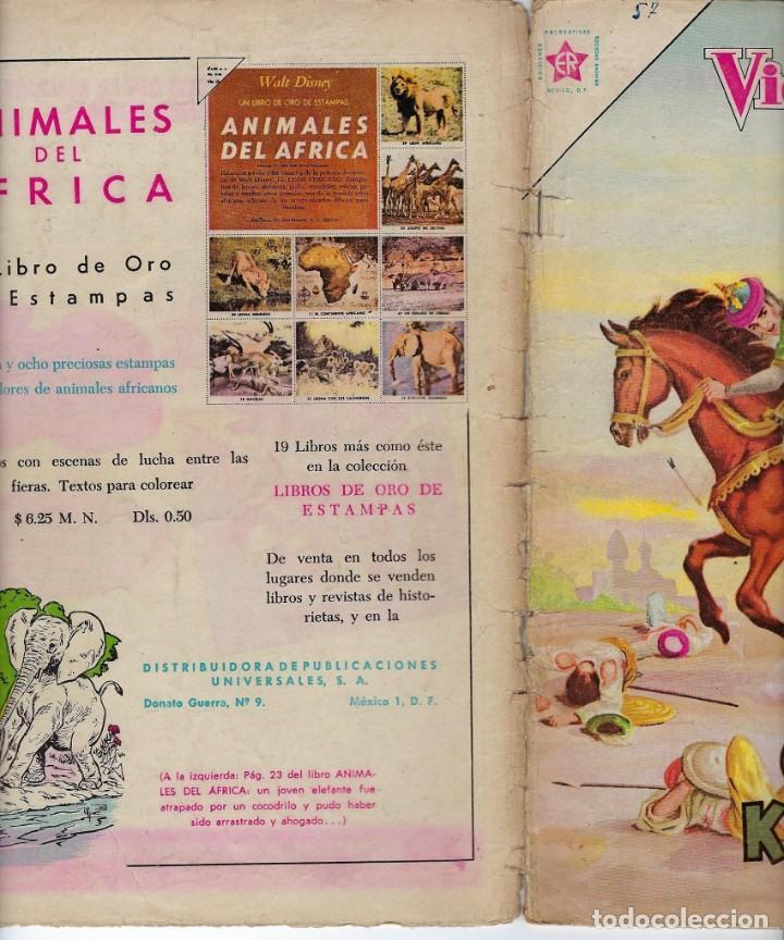 Tebeos: VIDAS ILUSTRES: OMAR KHAYYAM - AÑO V, Nº 57 - OCTUBRE 1º DE 1960 *** NOVARO MÉXICO *** - Foto 3 - 210094038