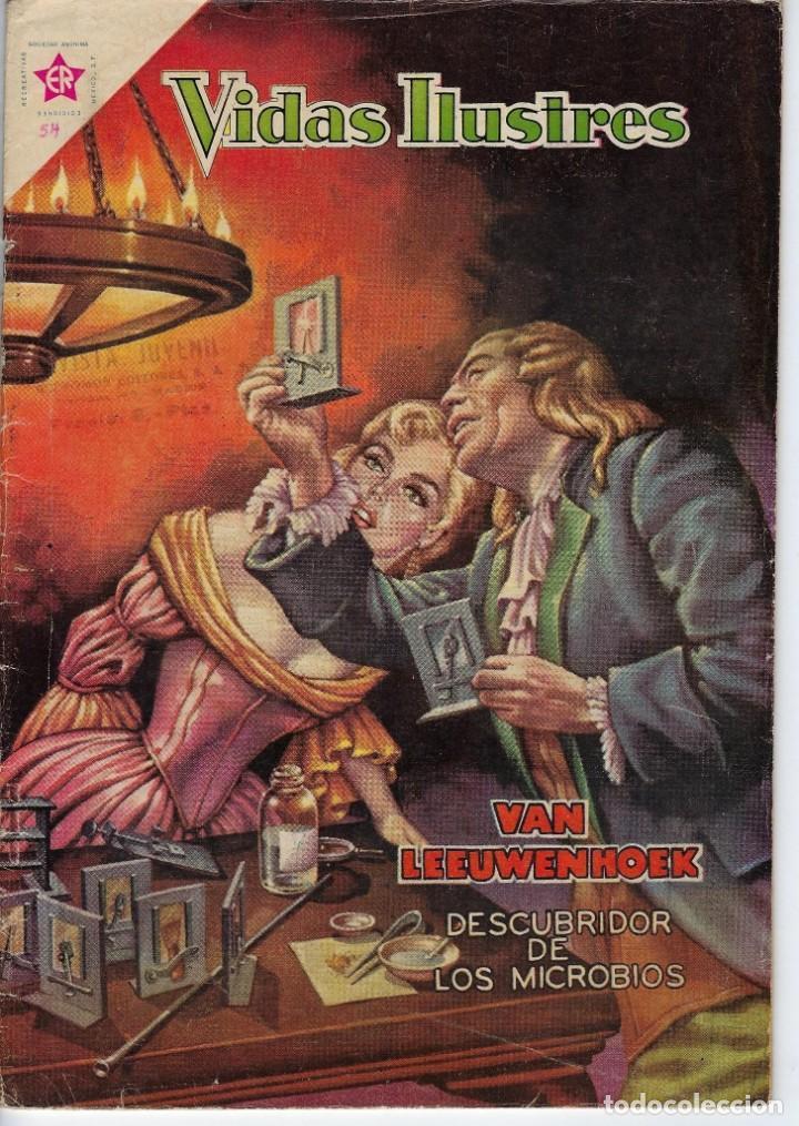 VIDAS ILUSTRES: VAN LEEUWENHOEK - AÑO V, Nº 54 - JULIO 1º DE 1960 *** NOVARO MÉXICO *** (Tebeos y Comics - Novaro - Vidas ilustres)