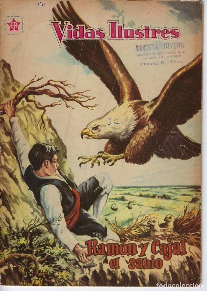 VIDAS ILUSTRES: RAMÓN Y CAJAL EL SABIO - AÑO V, Nº 50 - MARZO 1º DE 1960 *** NOVARO MÉXICO *** (Tebeos y Comics - Novaro - Vidas ilustres)