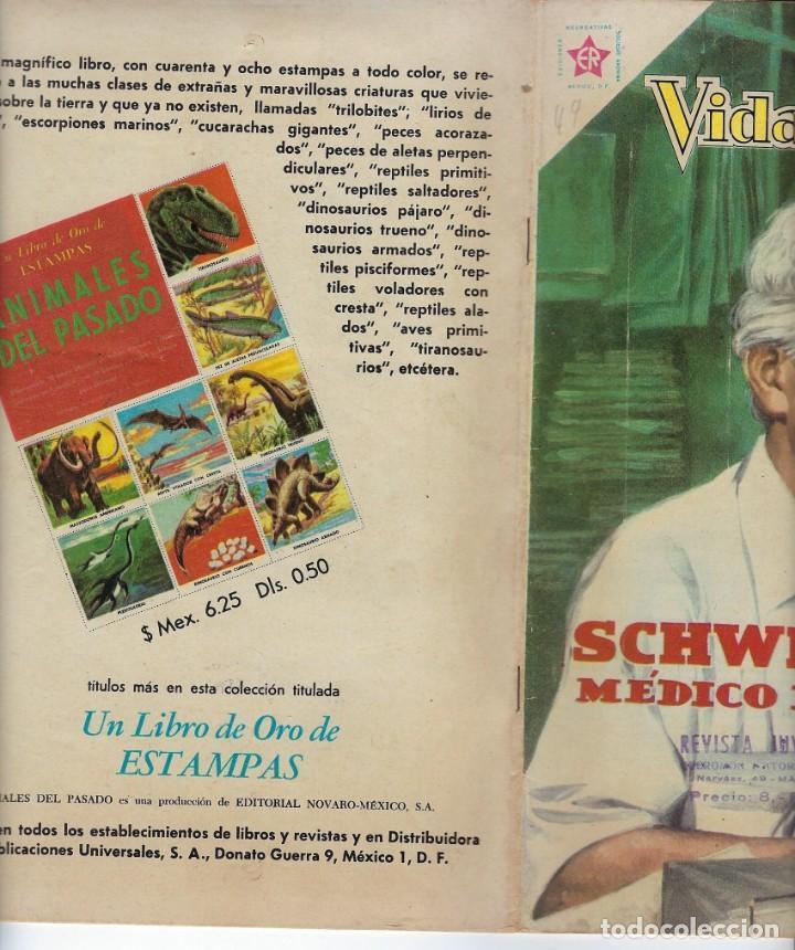 Tebeos: VIDAS ILUSTRES: SCHWEITZER MÉDICO DE LA SELVA - AÑO V, Nº 49 - FEB. 1º DE 1960 *** NOVARO MÉXICO *** - Foto 3 - 210095912