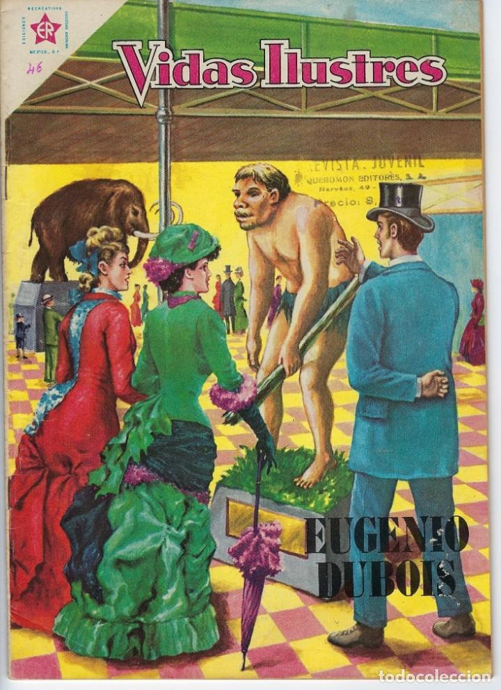 VIDAS ILUSTRES: EUGENIO DUBOIS - AÑO IV, Nº 46 - NOVIEMBRE 1º DE 1959 *** NOVARO MÉXICO *** (Tebeos y Comics - Novaro - Vidas ilustres)