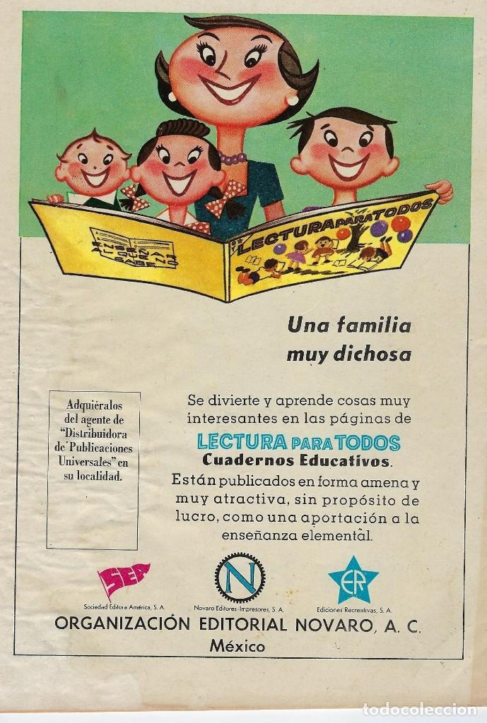 Tebeos: VIDAS ILUSTRES: EUGENIO DUBOIS - AÑO IV, Nº 46 - NOVIEMBRE 1º DE 1959 *** NOVARO MÉXICO *** - Foto 2 - 210096325