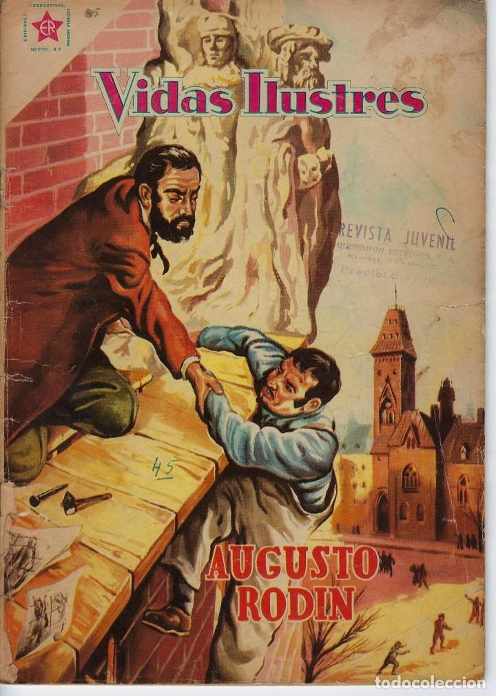 VIDAS ILUSTRES: AUGUSTO RODIN - AÑO IV, Nº 45 - OCTUBRE 1º DE 1959 *** NOVARO MÉXICO *** (Tebeos y Comics - Novaro - Vidas ilustres)