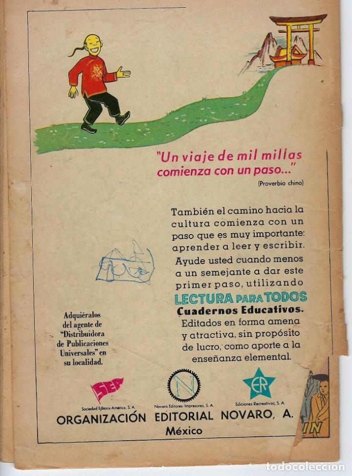Tebeos: VIDAS ILUSTRES: AUGUSTO RODIN - AÑO IV, Nº 45 - OCTUBRE 1º DE 1959 *** NOVARO MÉXICO *** - Foto 2 - 210096553