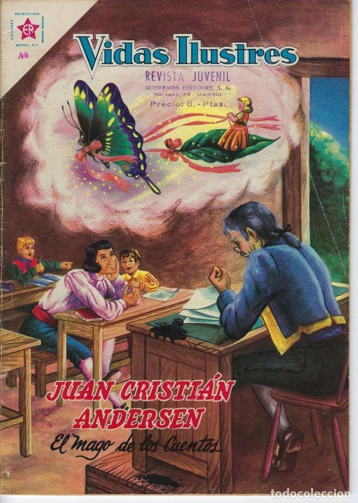 VIDAS ILUSTRES: JUAN CRISTIÁN ANDERSEN - AÑO IV, Nº 44 - SEPTIEMBRE 1º DE 1959 *** NOVARO MÉXICO *** (Tebeos y Comics - Novaro - Vidas ilustres)