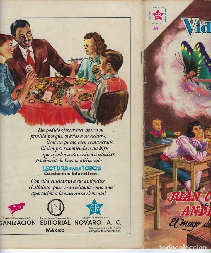 Tebeos: VIDAS ILUSTRES: JUAN CRISTIÁN ANDERSEN - AÑO IV, Nº 44 - SEPTIEMBRE 1º DE 1959 *** NOVARO MÉXICO *** - Foto 3 - 210176276