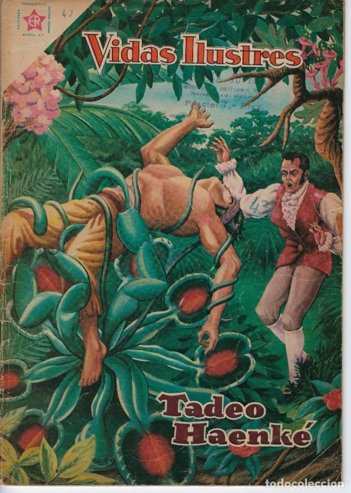 VIDAS ILUSTRES: TADEO HAENKE - AÑO IV, Nº 43 - AGOSTO 1º DE 1959 *** NOVARO MÉXICO *** (Tebeos y Comics - Novaro - Vidas ilustres)
