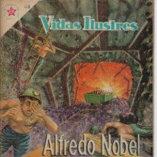 Tebeos: VIDAS ILUSTRES: ALFREDO NOBEL - AÑO IV, Nº 42 - JULIO 1º DE 1959 *** NOVARO MÉXICO ***. Lote 210176660