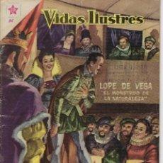 Tebeos: VIDAS ILUSTRES: LOPE DE VEGA - AÑO III, Nº 36 - ENERO 1º DE 1959 *** NOVARO MÉXICO ***. Lote 210177510
