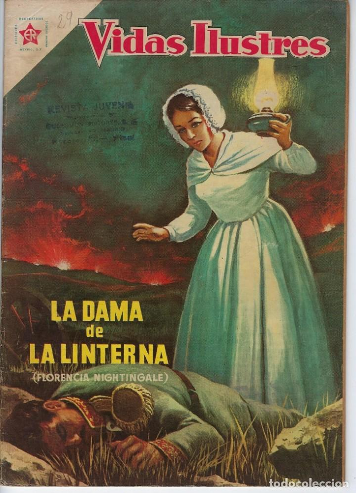 VIDAS ILUSTRES: FLORENCIA NIGHTINGALE - AÑO III, Nº 29 - JUNIO 1º DE 1958 *** NOVARO MÉXICO *** (Tebeos y Comics - Novaro - Vidas ilustres)