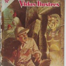 Tebeos: VIDAS ILUSTRES: HOWARD CARTER - AÑO III, Nº 27 - ABRIL 1º DE 1958 *** NOVARO MÉXICO ***. Lote 210180436