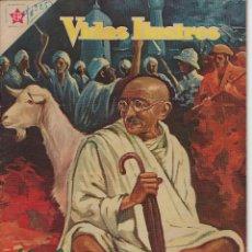 Tebeos: VIDAS ILUSTRES: MAHATMA GANDHI - AÑO III, Nº 25 - FEBRERO 1º DE 1958 *** NOVARO MÉXICO ***. Lote 210180668