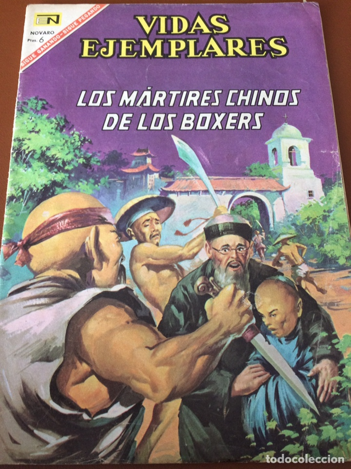 NOVARO VIDAS EJEMPLARES. LOS MÁRTIRES CHINOS DE LOS BÓXERS. (Tebeos y Comics - Novaro - Vidas ejemplares)