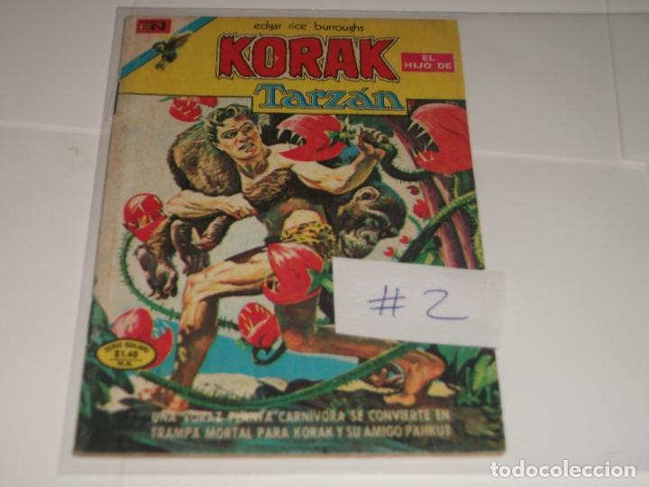 EL HIJO DE KORAK TARZAN 2 SERIE COLIBRI BUEN ESTADO (Tebeos y Comics - Novaro - Tarzán)