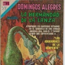 Tebeos: DOMINGOS ALEGRES: LA HERMANDAD DE LA LANZA - AÑO XXI - Nº 1053 - AGOS. 26 DE 1974 *EDITORIAL NOVARO*. Lote 210734806