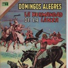 Tebeos: DOMINGOS ALEGRES: LA HERMANDAD DE LA LANZA - AÑO XXI - Nº 1045 - JUL. 4 DE 1974 *EDITORIAL NOVARO*. Lote 210735287