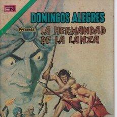 Tebeos: DOMINGOS ALEGRES: LA HERMANDAD DE LA LANZA - AÑO XX - Nº 1026 - ENE. 13 DE 1974 *EDITORIAL NOVARO*. Lote 210736294