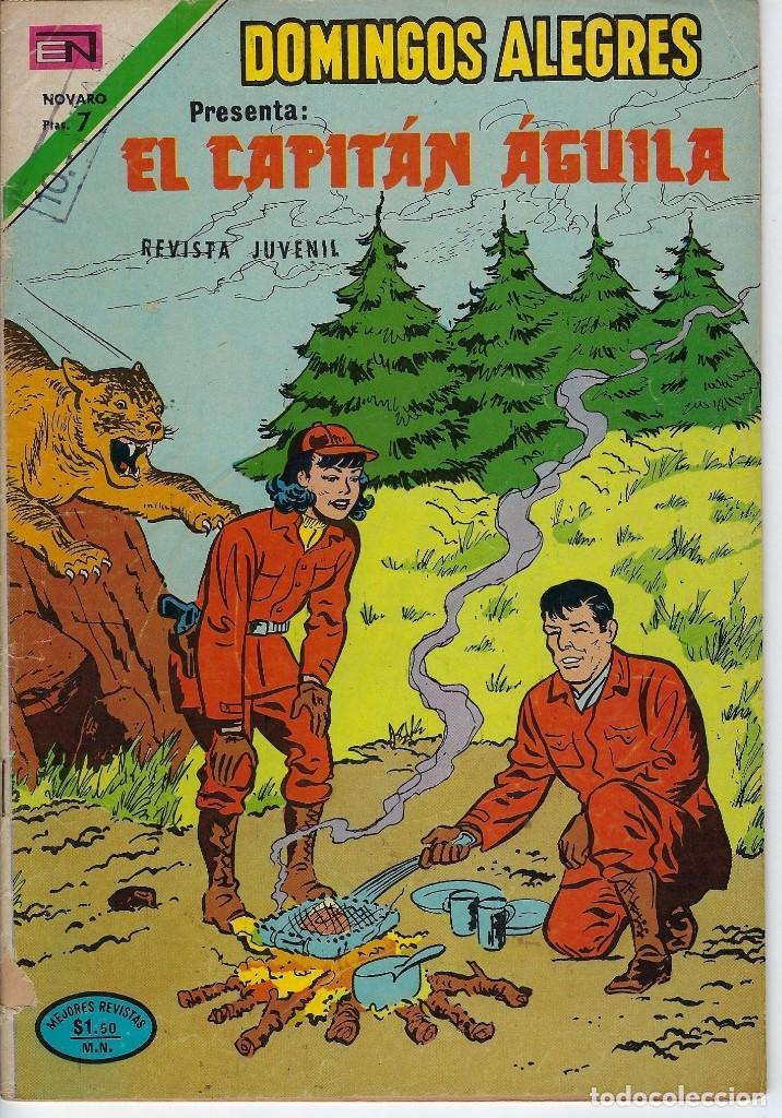 DOMINGOS ALEGRES:EL CAPITÁN ÁGUILA - AÑO XX - Nº 1019 - DIC. 2 DE 1973 *EDITORIAL NOVARO* (Tebeos y Comics - Novaro - Domingos Alegres)
