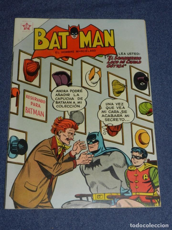 (M) BATMAN EL HOMBRE MURCIÉLAGO AÑO IV NÚM. 40, EDITORIAL NOVARO FEBRERO 1957, MUY BUEN ESTADO (Tebeos y Comics - Novaro - Batman)