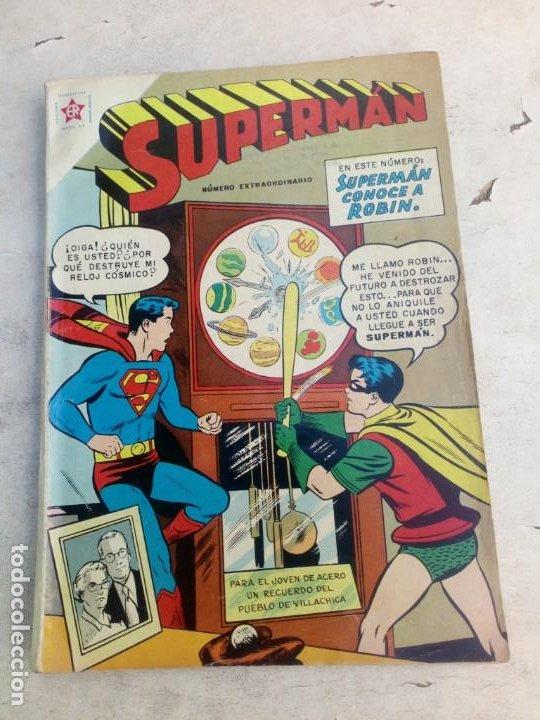 SUPERMÁN NOVARO NÚMERO EXTRAORDINARIO 1º DE JULIO 1959 SUPERMÁN CONOCE A ROBÍN (Tebeos y Comics - Novaro - Superman)