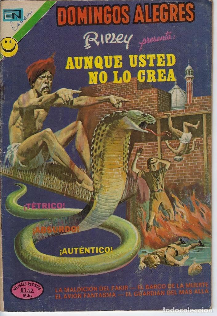 DOMINGOS ALEGRES: AUNQUE USTED NO LO CREA -AÑO XIX - Nº 962 - OCT. 29 DE 1972 ** EDITORIAL NOVARO ** (Tebeos y Comics - Novaro - Domingos Alegres)