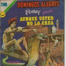 Tebeos: DOMINGOS ALEGRES: AUNQUE USTED NO LO CREA -AÑO XIX - Nº 962 - OCT. 29 DE 1972 ** EDITORIAL NOVARO **. Lote 211644351