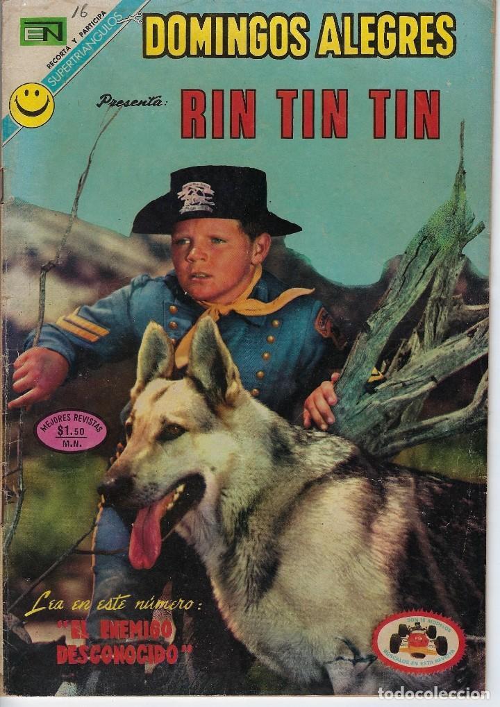 DOMINGOS ALEGRES: RIN TIN TIN - AÑO XIX - Nº 945 - JUL. 2 DE 1972 ** EDITORIAL NOVARO ** (Tebeos y Comics - Novaro - Domingos Alegres)