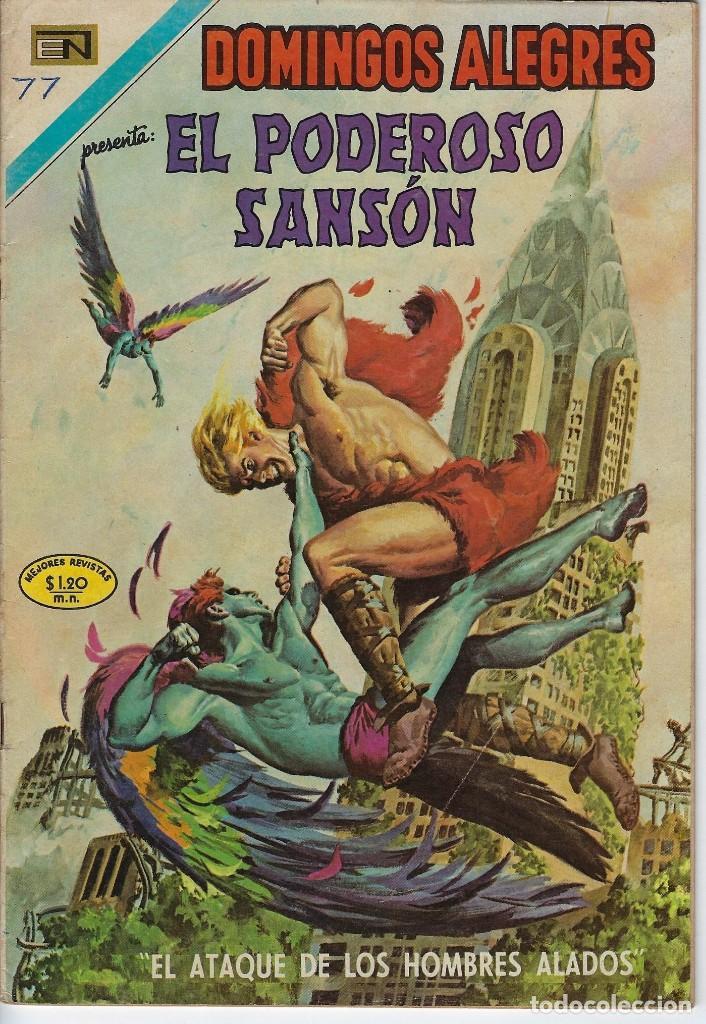 DOMINGOS ALEGRES: EL PODEROSO SANSÓN - AÑO XVII - Nº 870 - NOV. 29 DE 1970 ** EDITORIAL NOVARO ** (Tebeos y Comics - Novaro - Domingos Alegres)