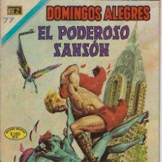Tebeos: DOMINGOS ALEGRES: EL PODEROSO SANSÓN - AÑO XVII - Nº 870 - NOV. 29 DE 1970 ** EDITORIAL NOVARO **. Lote 211650883