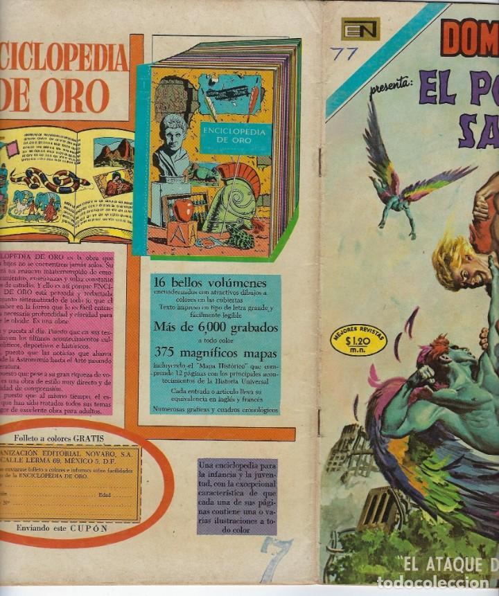 Tebeos: DOMINGOS ALEGRES: EL PODEROSO SANSÓN - AÑO XVII - Nº 870 - NOV. 29 DE 1970 ** EDITORIAL NOVARO ** - Foto 3 - 211650883