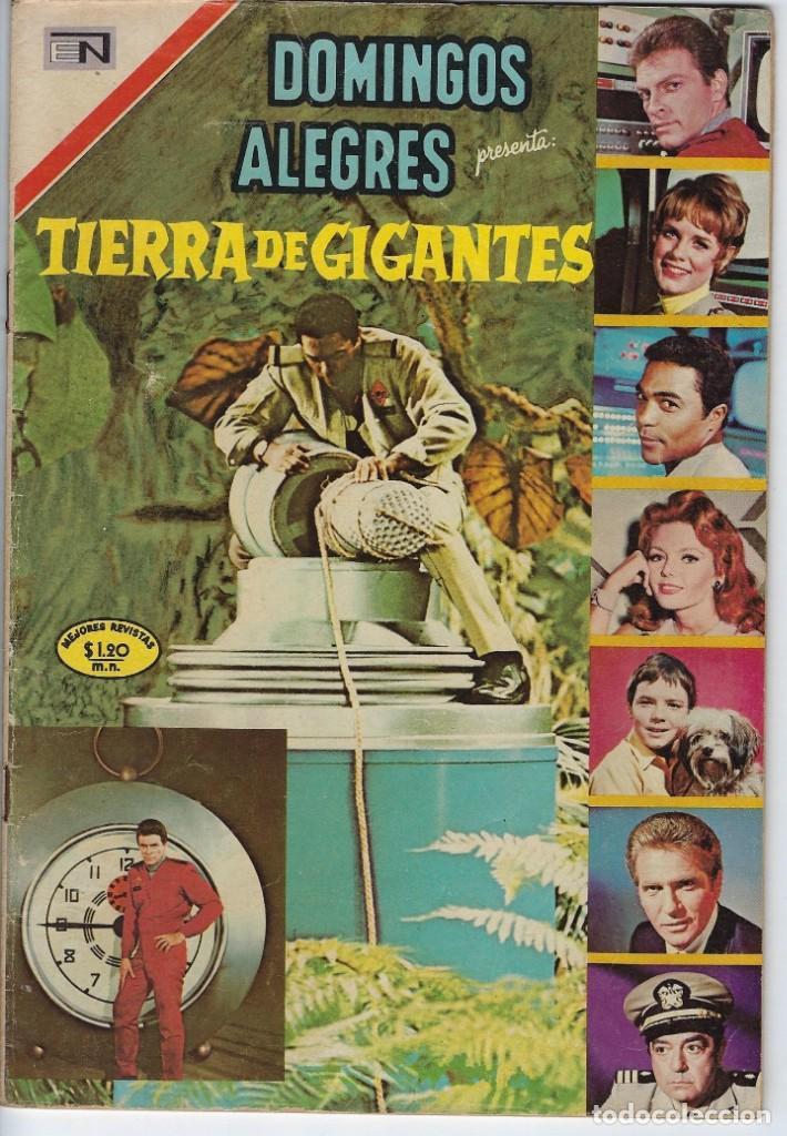 DOMINGOS ALEGRES: TIERRA DE GIGANTES - AÑO XVI - Nº 829 - FEB. 15 DE 1970 ** EDITORIAL NOVARO ** (Tebeos y Comics - Novaro - Domingos Alegres)