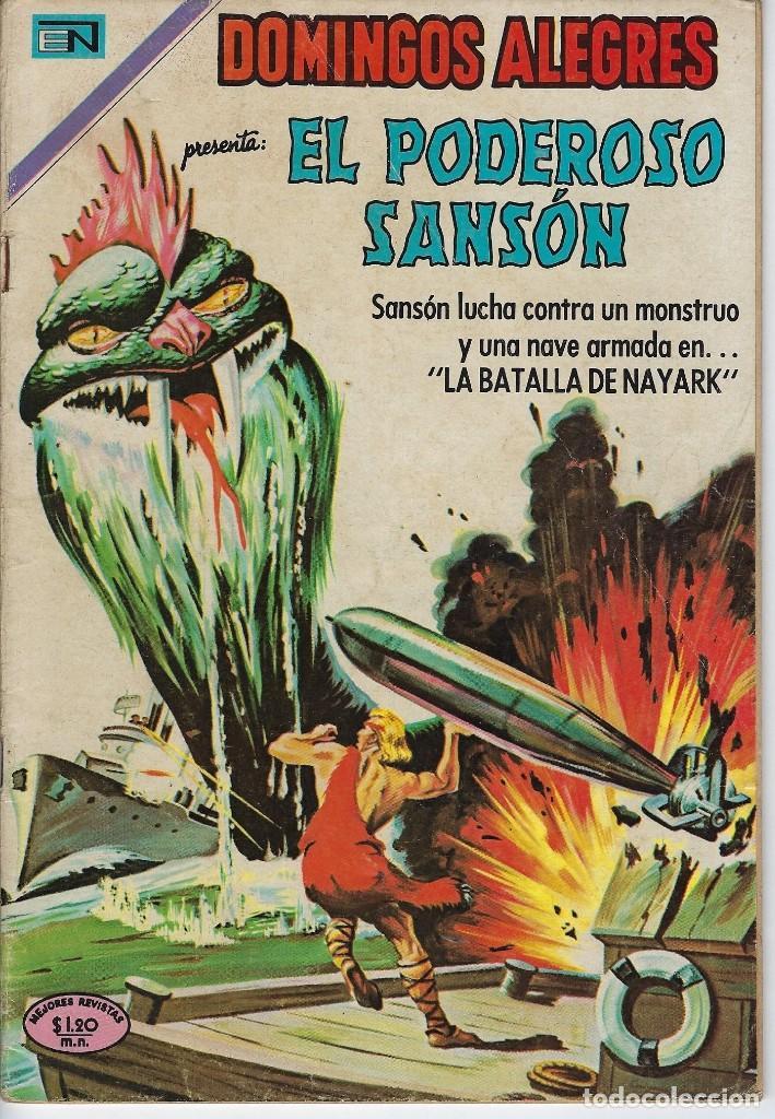 DOMINGOS ALEGRES: EL PODEROSO SANSÓN - AÑO XVI - Nº 820 - DIC. 14 DE 1969 ** EDITORIAL NOVARO ** (Tebeos y Comics - Novaro - Domingos Alegres)