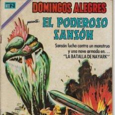 Tebeos: DOMINGOS ALEGRES: EL PODEROSO SANSÓN - AÑO XVI - Nº 820 - DIC. 14 DE 1969 ** EDITORIAL NOVARO **. Lote 211652016