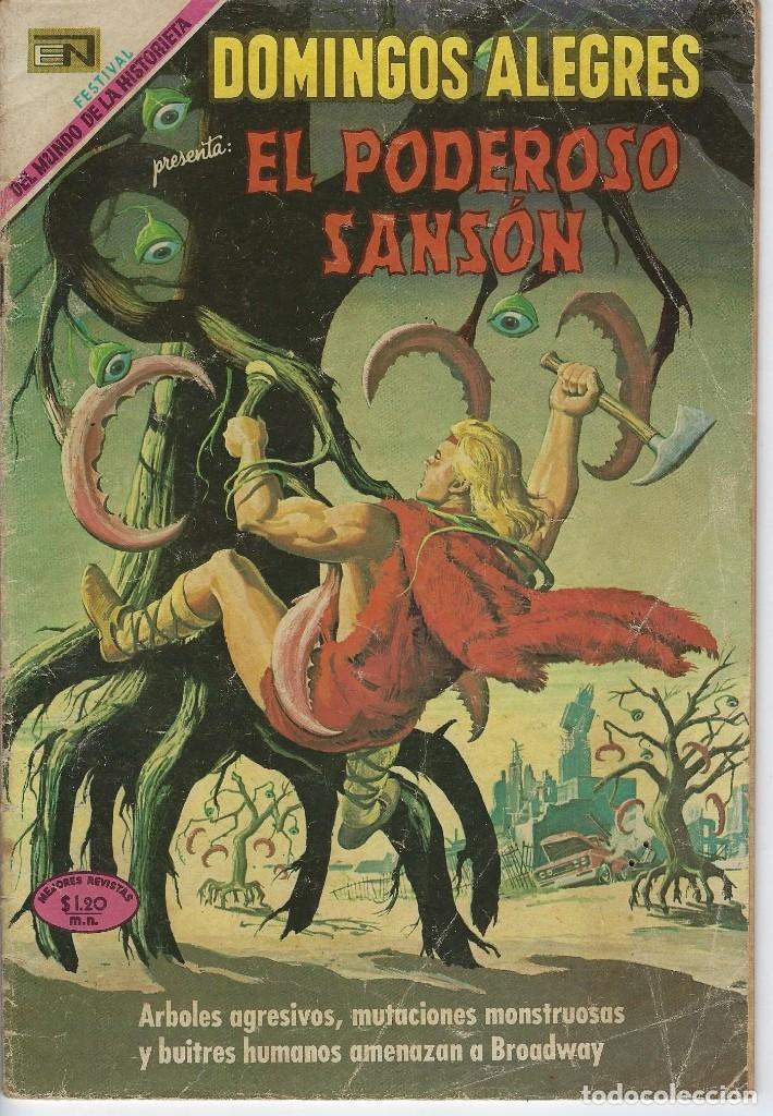 DOMINGOS ALEGRES: EL PODEROSO SANSÓN - AÑO XVI - Nº 807 - SEP. 14 DE 1969 ** EDITORIAL NOVARO ** (Tebeos y Comics - Novaro - Domingos Alegres)