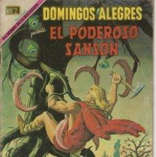 Tebeos: DOMINGOS ALEGRES: EL PODEROSO SANSÓN - AÑO XVI - Nº 807 - SEP. 14 DE 1969 ** EDITORIAL NOVARO **. Lote 211652521