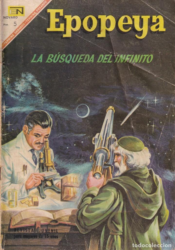 EPOPEYA : NUMERO 108 LA BUSQUEDA DEL INFINITO, EDITORIAL NOVARO (Tebeos y Comics - Novaro - Epopeya)