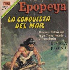Tebeos: EPOPEYA : NUMERO 132 LA CONQUISTA DEL MAR, EDITORIAL NOVARO. Lote 211779388