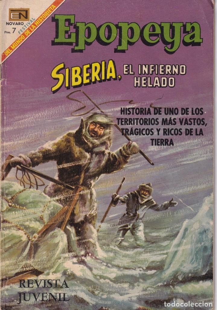 EPOPEYA : NUMERO 128 SIBERIA, EL INFIERNO HELADO, EDITORIAL NOVARO (Tebeos y Comics - Novaro - Epopeya)