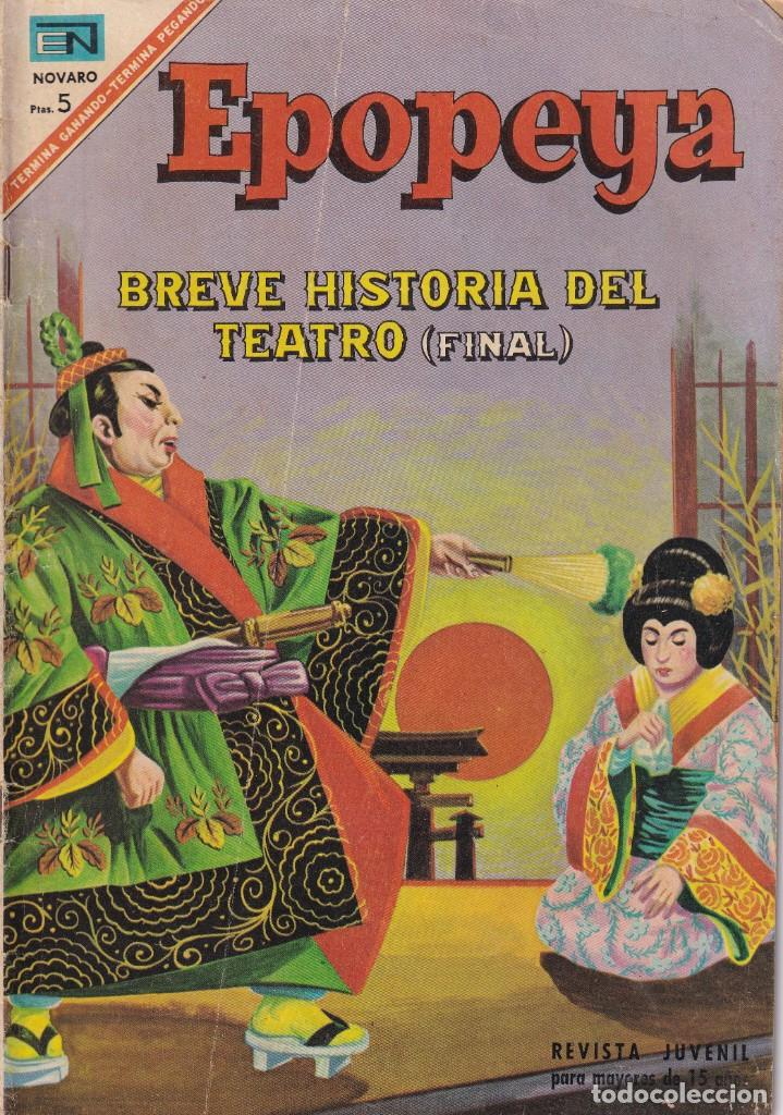 EPOPEYA : NUMERO 111 BREVE HISTORIA DEL TEATRO (FINAL), EDITORIAL NOVARO (Tebeos y Comics - Novaro - Epopeya)