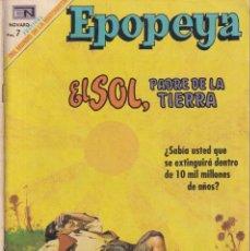 Livros de Banda Desenhada: EPOPEYA : NUMERO 134 EL SOL, PADRE DE LA TIERRA, EDITORIAL NOVARO. Lote 211826253
