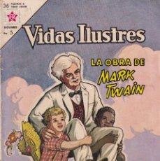 Tebeos: VIDAS ILUSTRES : NUMERO 91 LA OBRA DE MARK TWAIN, EDITORIAL NOVARO. Lote 211848941