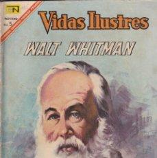 Giornalini: VIDAS ILUSTRES : NUMERO 165 WALT WHITMAN, EDITORIAL NOVARO. Lote 211849172