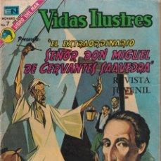 Tebeos: VIDAS ILUSTRES : NUMERO 307 EL EXTRAORDINARIO SEÑOR DON MIGUEL DE CERVANTES SAAVED, EDITORIAL NOVARO. Lote 211851113