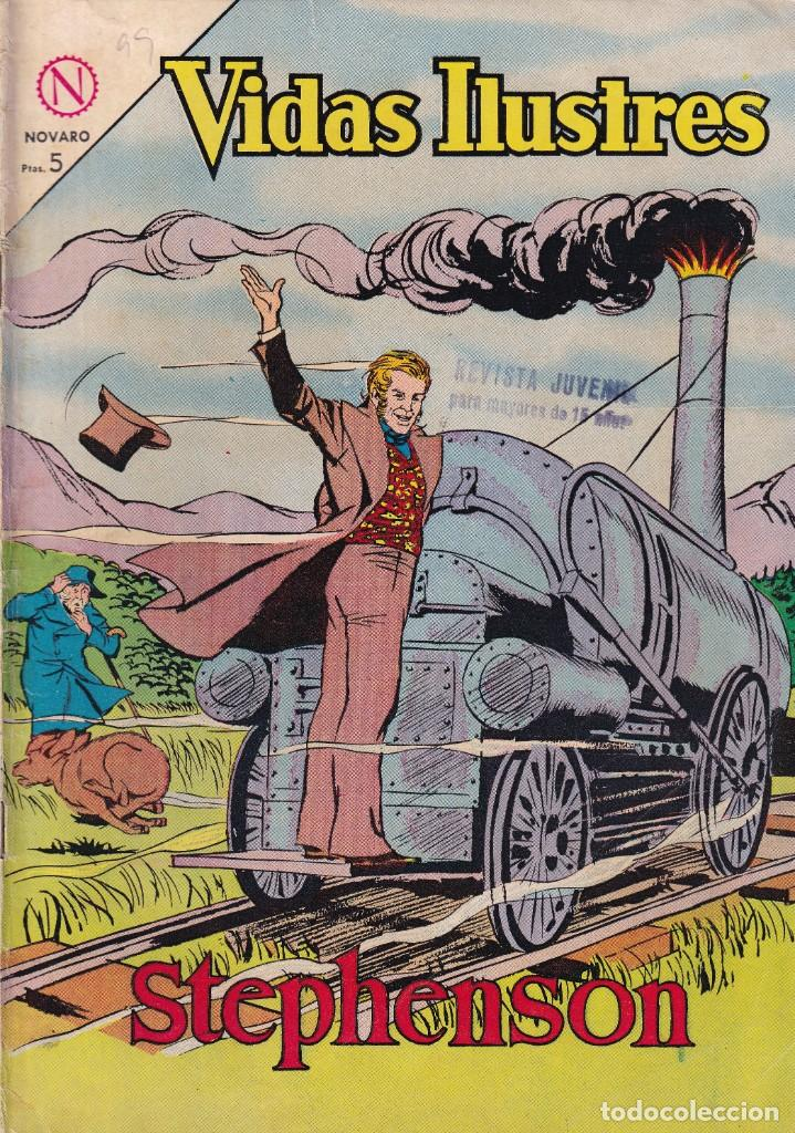 VIDAS ILUSTRES : NUMERO 99 STEPHENSON, EDITORIAL NOVARO (Tebeos y Comics - Novaro - Vidas ilustres)